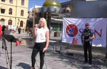BRUKA U NORVEŠKOJ: Na antiislamskim protestima oskrnavljen Kur'an, desničarka  htjela pocijepati svetu knjigu, a onda je intervenirala policija…
