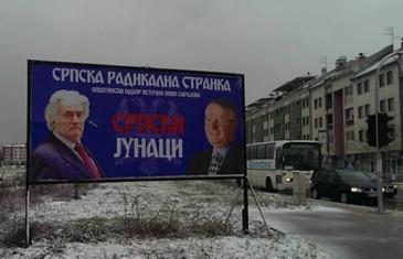 U Istočnom Sarajevu plakati podrške Karadžiću i Šešelju