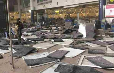 Objavljen video haosa na briselskom aerodromu