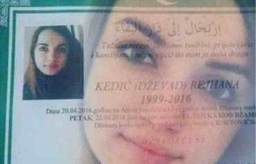 TUGA U BUŽIMU, U PETAK POSLJEDNJI ISPRAĆAJ: 17-godišnja učenica Rejhana Kedić poginula nakon pada sa…