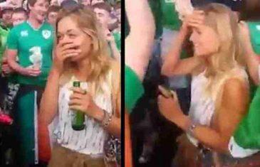 Otkriveno ko je prelijepa plavuša kojoj su stotine irskih navijača pjevale serenadu! (FOTO/VIDEO)