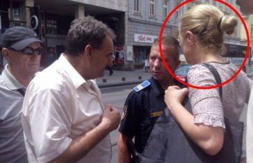 OVO JE DJEVOJKA KOJA JE 'ORDINIRALA' PO TRAMVAJU, nakon čega su je uhvatili i držali dok policija nije došla