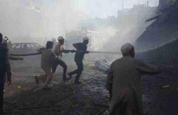 Ruski avioni gađali pijacu, džamiju i hotel u Idlibu: Poginulo sedam, ranjeno 30 civila