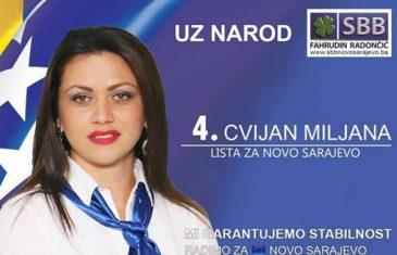 Supruga osuđenog Bojana Cvijana na kandidatskoj listi za ovogodišnje izbore