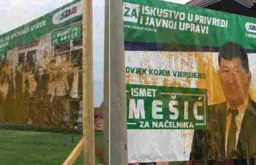 """Uništavanje plakata u Kalesiji: """"SDA nisu uništili tenkovi, neće ni koji litar farbe"""""""