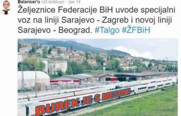 """Bosanci """"poslali"""" svoj voz za Beograd i Zagreb sa veoma jasnom porukom za komšije"""