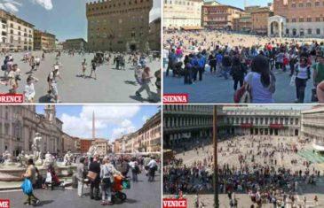 ŠOKANTNI SNIMCI IZ ITALIJE: Pogledajte snimke italijanskih ulica prije i nakon koronavirusa (FOTO, VIDEO)