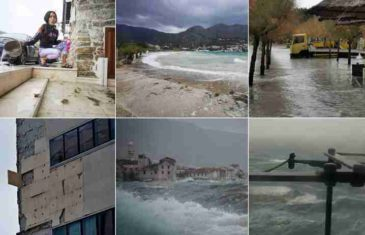 Haos na Jadranu: U Splitu odletjela fasada, rive su pod vodom, ne voze brodovi…