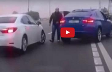 IZAŠAO JE ŽESTOKO IZ BMW-A I GLUMIO MANGUPA PA NAUČIO LEKCIJU ŽIVOTA (VIDEO)