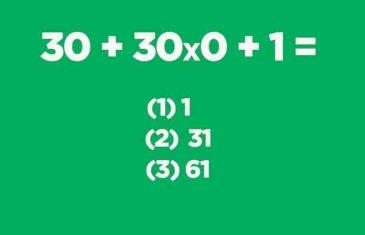 Koji je odgovor tačan?