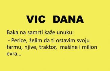 VIC DANA: Ostavila baka Perici nasljedstvo..