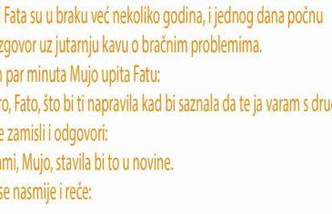 VIC: Mujo i Fata su u braku već nekoliko godina