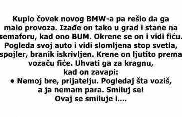 Kupio čovjek novog BMW-a pa riješio da ga malo provoza.