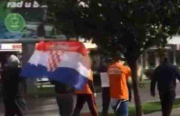 """Hrvatski navijači u Podgorici skandiraju """"Ovo je Srbija"""""""
