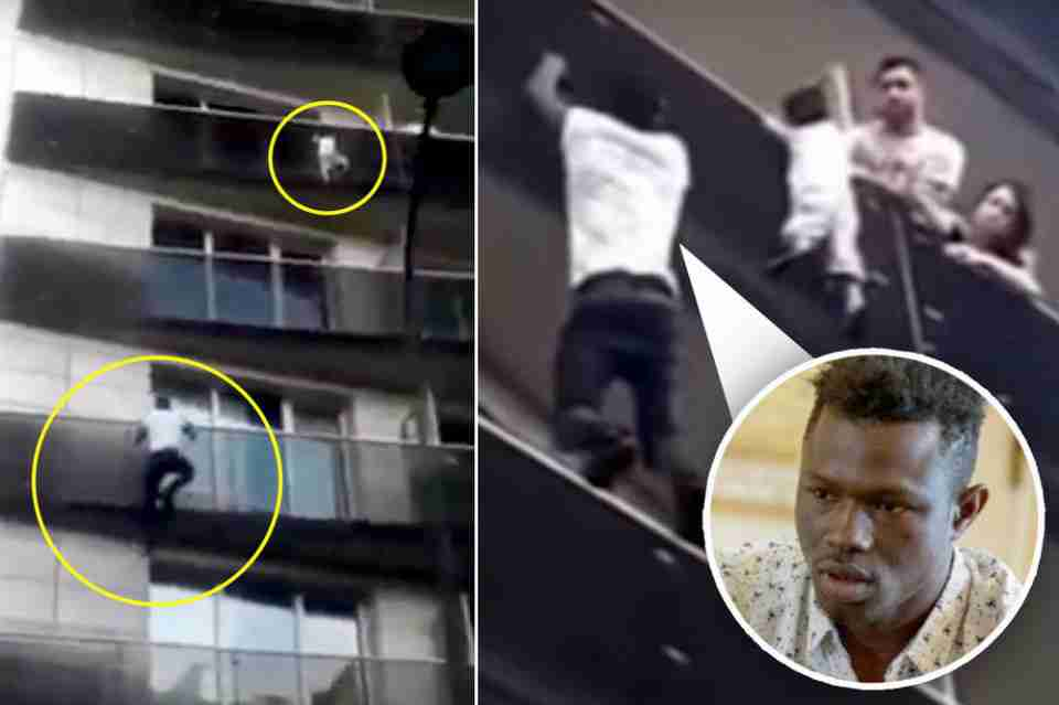 DIJETE VISILO SA 4. SPRATA, MIGRANT GA SPASIO: Skočio na zgradu, rizikovao život i uhvatio dijete!