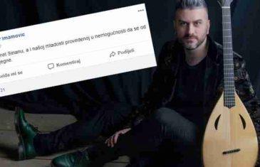 Status Damira Imamovića izazvao bijes publike preminulog pjevača: Predao rahmet Sinanu, ali i mladosti koja ga je slušala