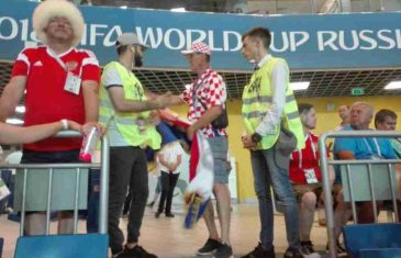 INCIDENT NA UTAKMICI HRVATSKE I ISLANDA: Navijač iz Livna došao sa zastavom tzv. Herceg-Bosne, redari reagovali…