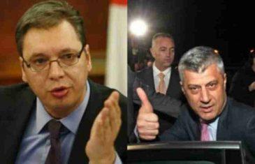 """Vučić: Razgovarat ću sa Thacijem ma koliko bilo """"teško i mučno"""