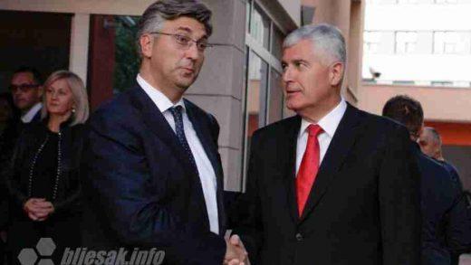DODIK KOD VUČIĆA, ČOVIĆ KOD PLENKOVIĆA: Čović zahvalio Plenkoviću na mudrom političkom vodstvu