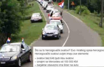 OPIS HERCEGOVAČKIH SVATOVA HIT NA FEJSU: 'MERCEDES OD 100.000 KM I 648 LJUDI'