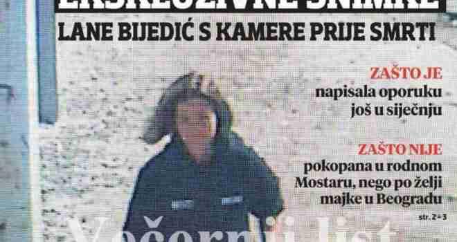 Ovo su posljednje snimke Lane Bijedić: Izbrisala profil na Facebooku, vještači se testament