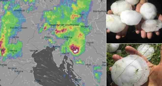 U Hrvatskoj i Sloveniji padao grad veličine narandže: 'Pogodila me kugla, odmah je prsnula krv…'