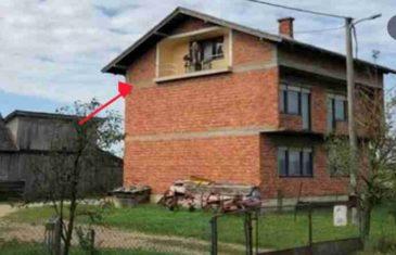 HODAO JE KROZ SELO, A ONDA UGLEDAO ČUDAN PRIZOR: Pogledajte koga vlasnik ove kuće drži na lođi, NEVJERICA!
