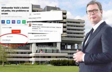 """""""DABOGDA UMRO""""! Vučićev tabloid se žali na sramne komentare na hrvatskim portalima"""