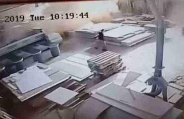 STRAH I PANIKA: Pogledajte kako se zatresla radionica u Mostaru tokom zemljotresa (VIDEO)