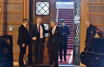 SASTANAK U ZGRADI PREDSJEDNIŠTVA: Dodik i zvaničnici iz RS-a podnose raport predstavnicima Kvinte