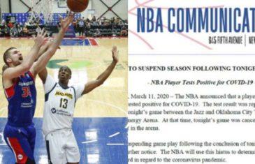 PREKIDA SE NBA, SVE UTAKMICE ODGOĐENE DO DALJNJEGA: Suspendirana najjača košarkaška liga na svijetu, jedan igrač Utah Jazza je pozitivan na Covid-19