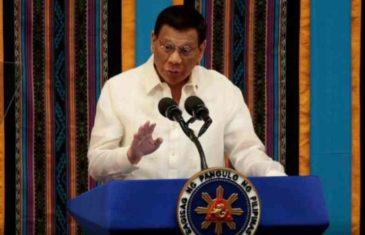 """PREDSJEDNIK FILIPINA IZDAO NAREDBU VOJSCI I POLICIJI: """"Ako iko bude stvarao nevolje, a vaši životi su ugroženi, USTRIJELITE IH"""""""