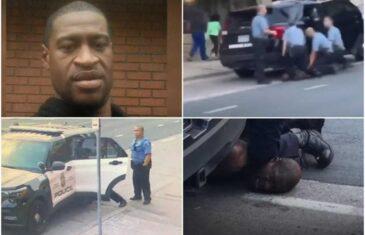 POLICAJCI GA TUKLI U AUTOMOBILU, PRIJE NEGO ŠTO SU GA UBILI? Procurio novi snimak hapšenja Džordža Flojda!