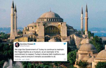 PRONAĐEN NOVI RAZLOG ZA DIPLOMATSKU PREPIRKU DVIJE SILE: SAD ne želi da Turska vrati Aja Sofiji status…