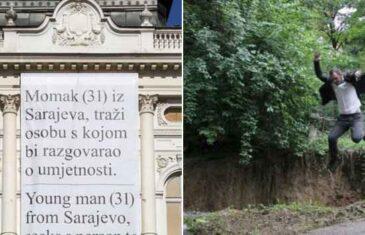 Ko je 'momak iz Sarajeva' koji traži osobu s kojom bi razgovarao o umjetnosti: Skočio u misterioznu rupu u Velikom parku…
