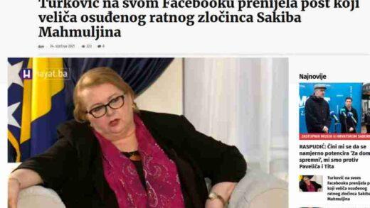 MINISTRICA VANJSKIH POSLOVA UZBURKALA DUHOVE: Ovo je objava Bisere Turković o Sakibu Mahmuljinu koja je razbjesnila Čovićeve medije…