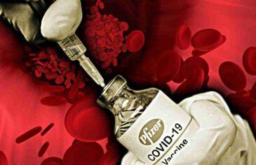 Naučnici upozoravaju da Pfizerove vakcine također mogu uzrokovati krvne ugruške…