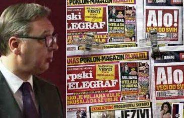 Politika spaljenog mozga i njeni finansijeri: Tabloidi su postojali i prije Vučića, ali on ih je doveo do usijanja